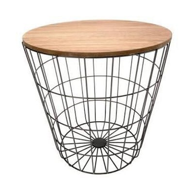 Storage Wire Basket Table