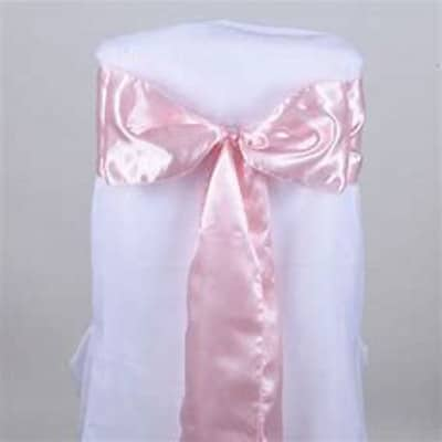 Satin Sashes Pale Pink