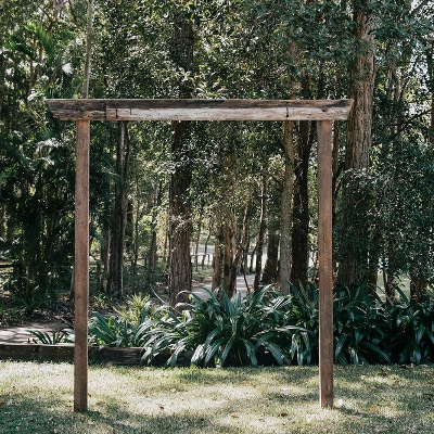 Rustic Timber Arbour