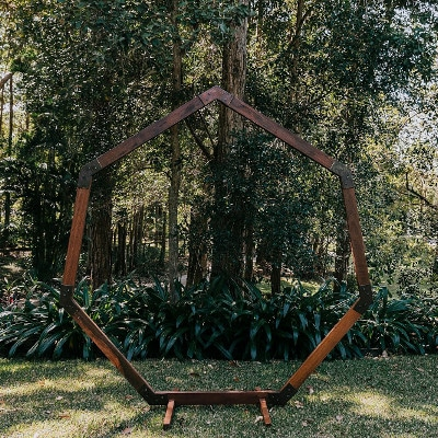 7-sided geo Timber Arbour