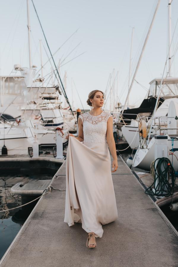 wedding ceremony at Pier33