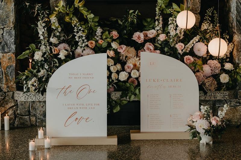 luxe wedding setting
